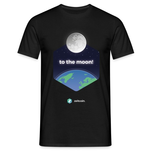 zeit earthrise - Men's T-Shirt