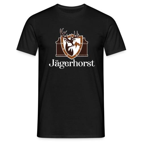Jägerhorst Logo Weiss - Männer T-Shirt