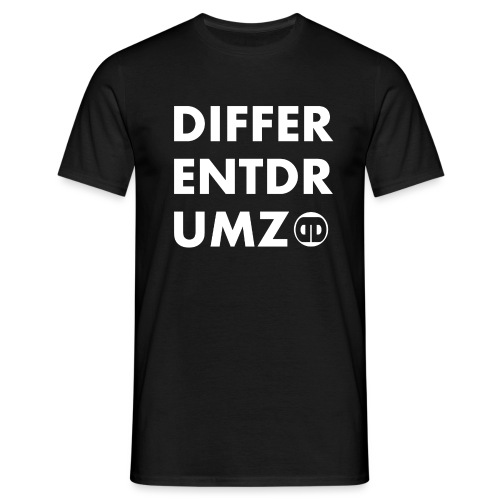 ddz words n logo white - Men's T-Shirt