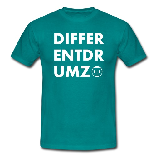 ddz words n logo white - Men's T-Shirt