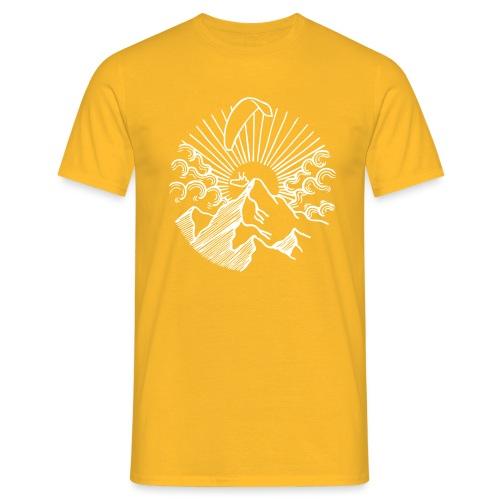 Paraglider Mountain Sunrise - Männer T-Shirt