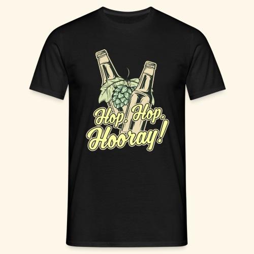 Craft Beer T-Shirt Hop, Hop, Hooray! - Männer T-Shirt