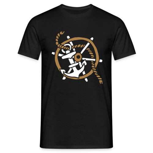 Anker Seemann Anchor Sailor Tattoo Oldschool SOS - Männer T-Shirt