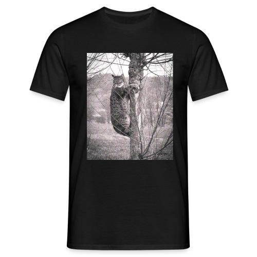 Grumpy Koala Katze im Baum - Männer T-Shirt