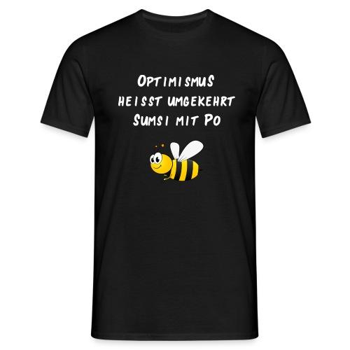 Optimismus Biene Sumsi mit Po - Männer T-Shirt