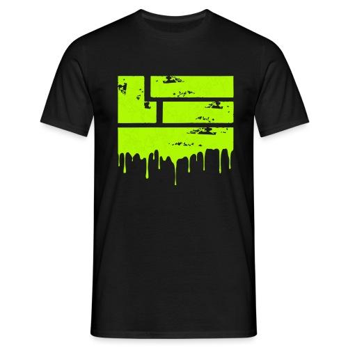 LuckyTHR Neon Green Paint - Men's T-Shirt