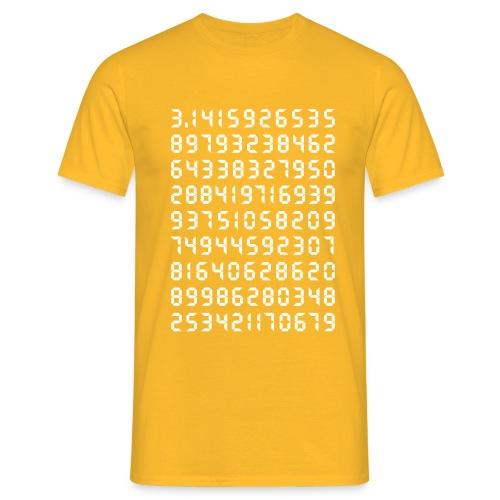 Pi Mathematik Kreiszahl Symbol Genie Big Bang Geek - Men's T-Shirt