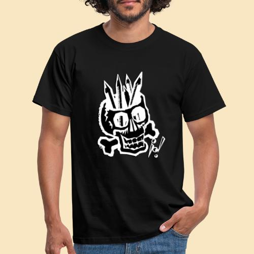Painterskull black and white - Männer T-Shirt