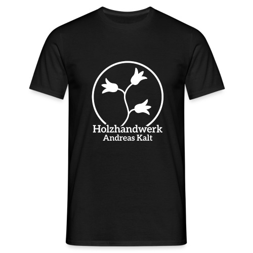 White Holzhandwerk logo - Men's T-Shirt