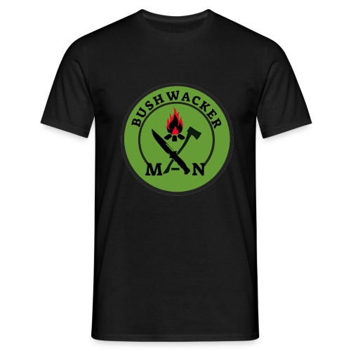 bushwackers logo green - Men's T-Shirt