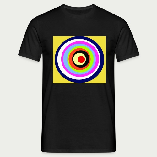 Maske Kreisende Farben - Männer T-Shirt
