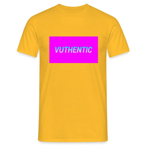 VUTHENTIC LOGO - Men's T-Shirt