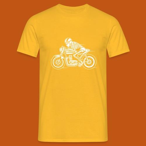 Cafe Racer Motorrad 05_weiß - Männer T-Shirt