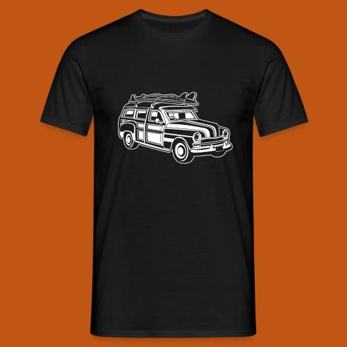 Chevy Cadilac Woodie / Oldtimer Kombi 01_weiß - Männer T-Shirt