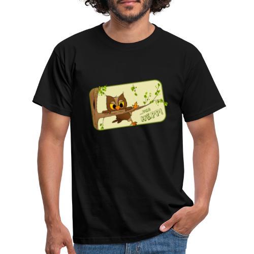 Eule - und hepp! - Männer T-Shirt