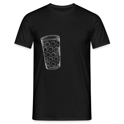 Dubbeglas un kä Blumevase - Männer T-Shirt