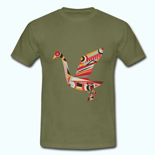 Origami bird Japanese - Men's T-Shirt
