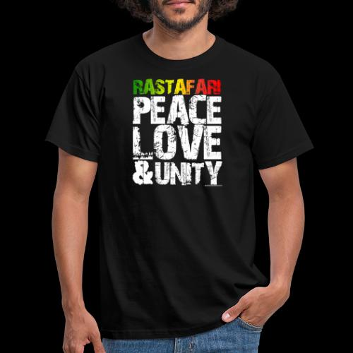 RASTAFARI - PEACE LOVE & UNITY - Männer T-Shirt