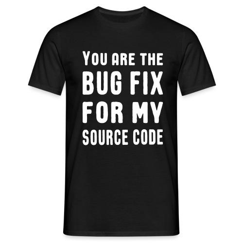 Programmierer Beziehung Liebe Source Code Spruch - Männer T-Shirt