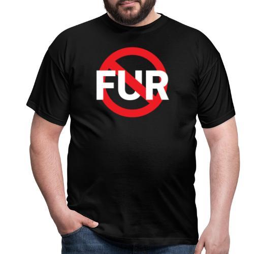 Fuck fur! White - T-shirt herr