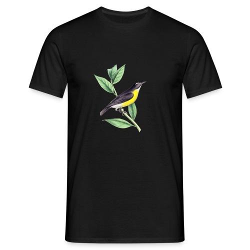 bird yellow-black - Männer T-Shirt