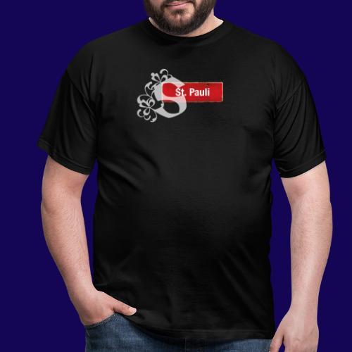 Hamburg -St.Pauli-Schild mit Schmuck-Initial - Männer T-Shirt