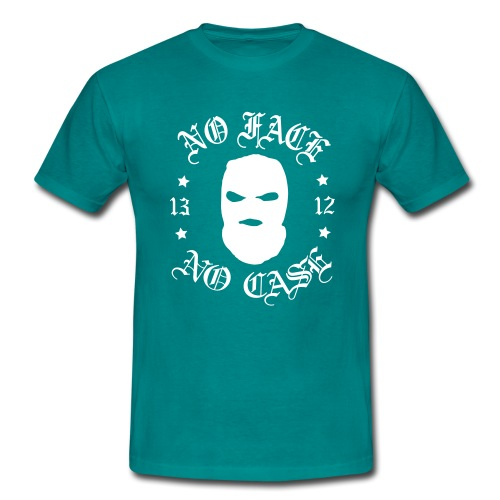 No Face, No Case - Skimask - valkoinen printti - Miesten t-paita