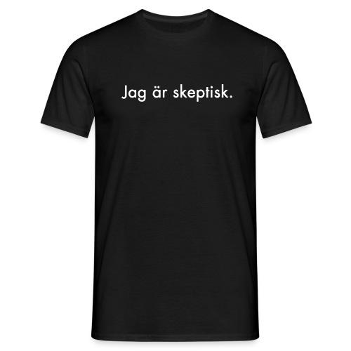 Jag är skeptisk [vit text], logga bak [vit] - T-shirt herr