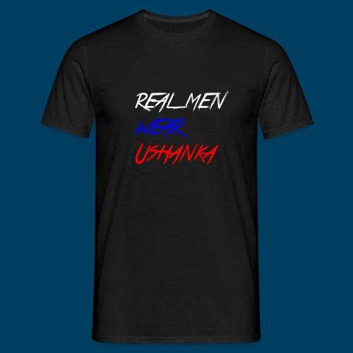 real men wear ushanka - T-shirt herr
