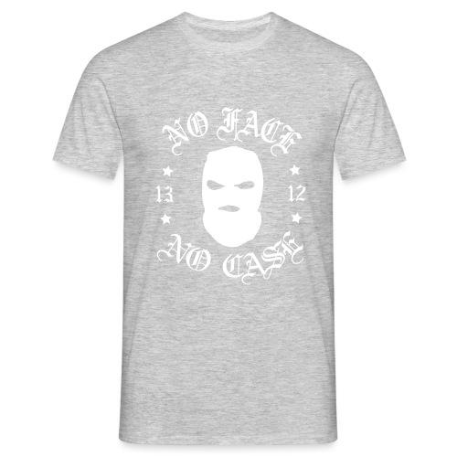 No Face, No Case - Skimask - valkoinen iso printti - Miesten t-paita