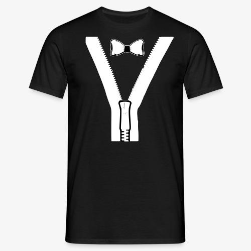Reißverschluß & Fliege - Men's T-Shirt