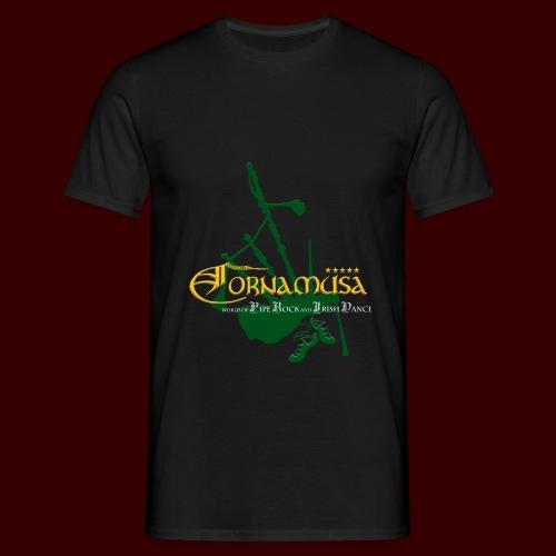 Vorn T Shirt schwarz - Männer T-Shirt