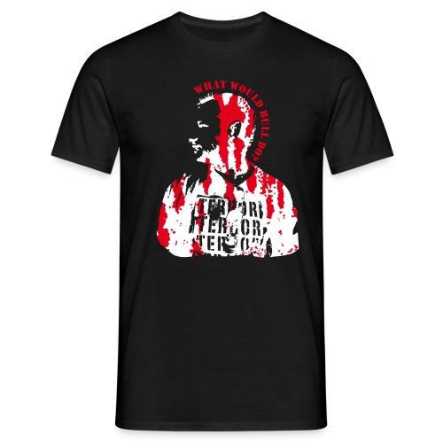 bullfanshirt direktdruck whiteblood - Männer T-Shirt
