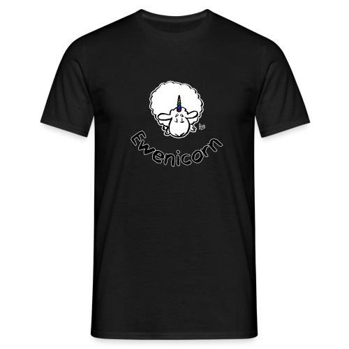 Ewenicorn (black edition black text) - Men's T-Shirt