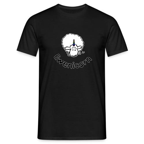 Ewenicorn (schwarze Ausgabe schwarzer Text) - Männer T-Shirt