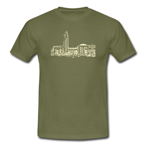 Helsinki railway station pattern trasparent beige - Men's T-Shirt