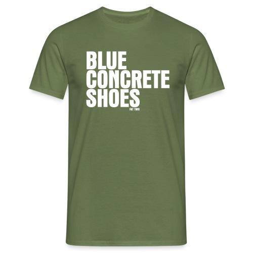BlUE CONCRETE SHOES - Männer T-Shirt