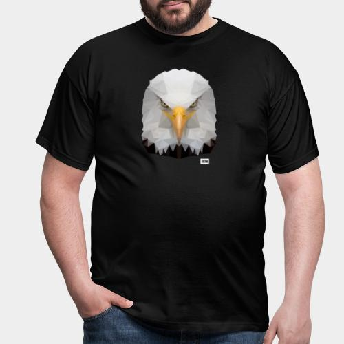 Eagle of Triangles white logo - Men's T-Shirt