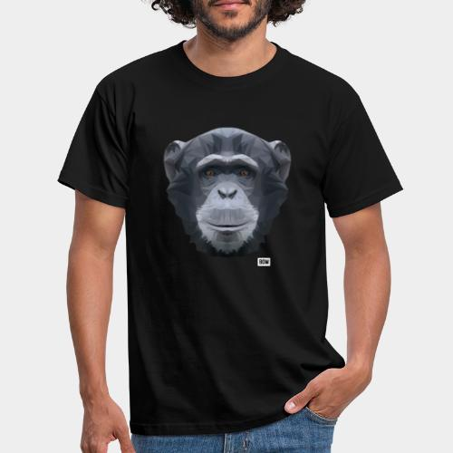 Chimpansee of Triangles white logo - Men's T-Shirt