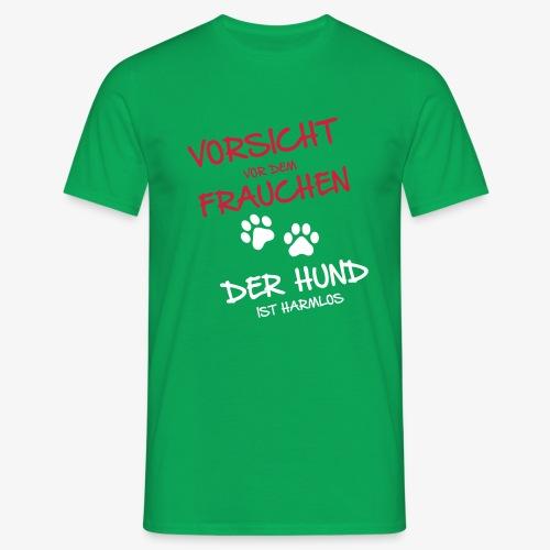 Vorsicht vor dem Frauchen - Männer T-Shirt