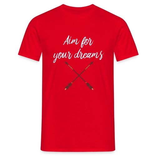Aim for your Dreams white - Miesten t-paita