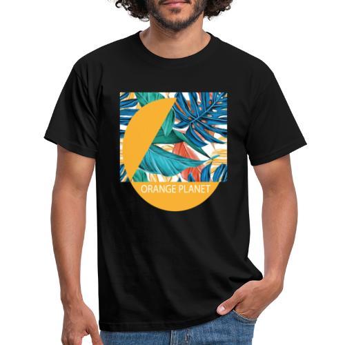 Orange Planet - Männer T-Shirt