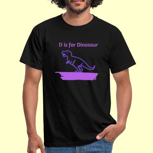 D is for Dinosaur - Camiseta hombre