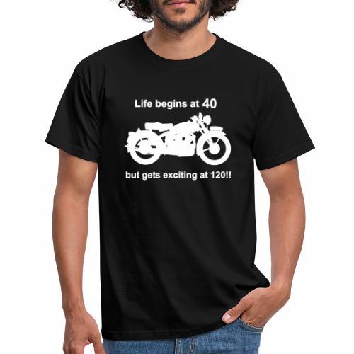 classic life begins at 40 - Men's T-Shirt