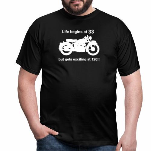 classic life begins at 33 - Men's T-Shirt