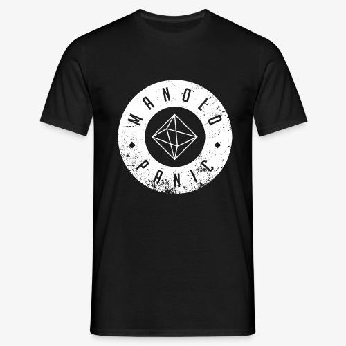 Manolo Panic Logo, breit - Männer T-Shirt