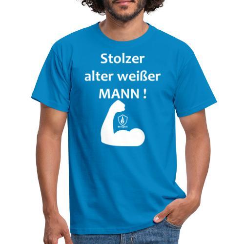 Stolzer alter weißer Mann - Männer T-Shirt