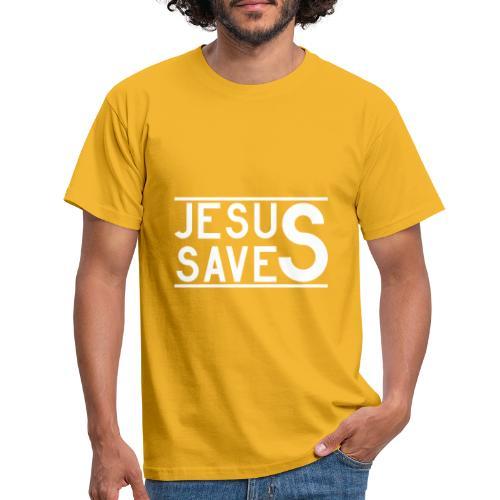 Jesus Saves - Männer T-Shirt