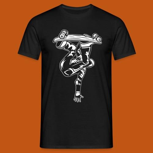Skater / Skateboarder 03_weiß - Männer T-Shirt