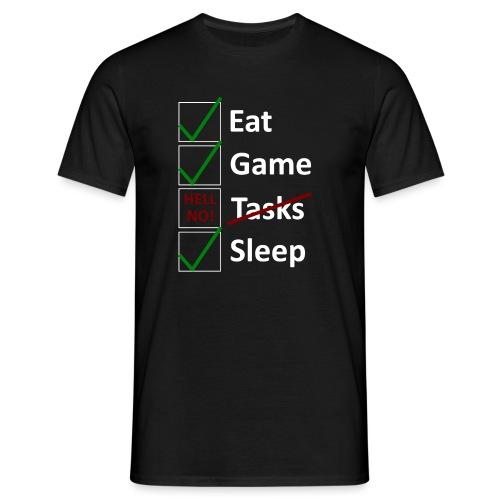 Schedule Shirt White Version - Männer T-Shirt